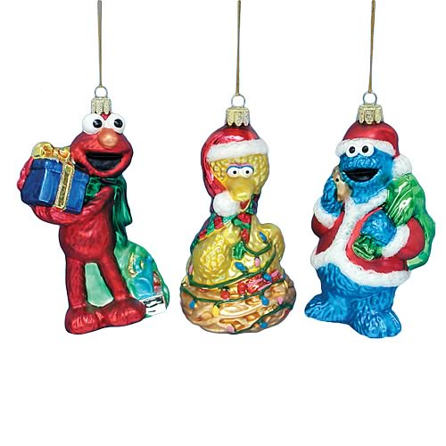 Sesame Street 5-Inch Glass Ornaments Set