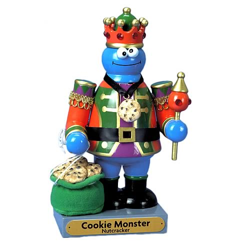 Sesame Street Cookie Monster 11-Inch Nutcracker