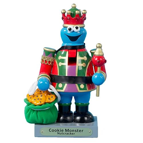 Sesame Street Cookie Monster 8-Inch Wooden Nutcracker