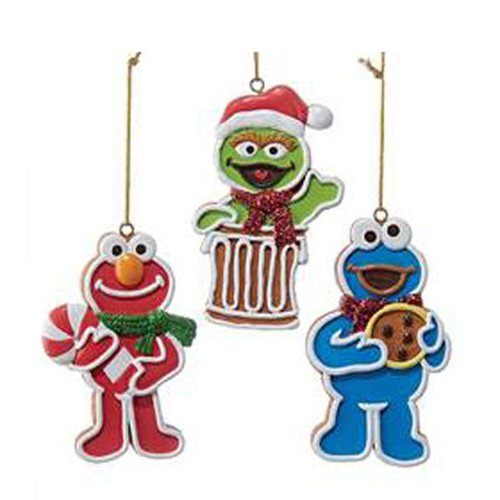Sesame Street Gingerbread Characters Ornament Case