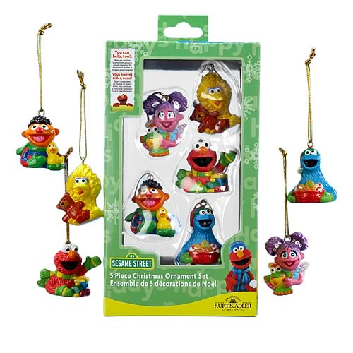 Sesame Street Resin Mini Ornaments Boxed Set