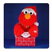 Sesame Street Singing Elmo in Chimney Display
