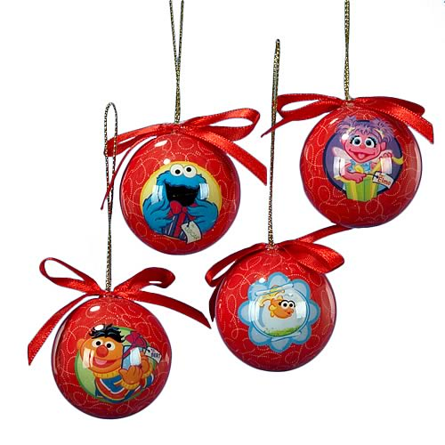 Sesame Street Ball Ornaments Set