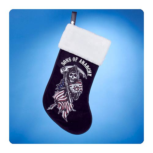 Sons of Anarchy Grim Reaper White Cuff Christmas Stocking