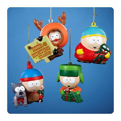 South Park Holiday Blow Mold 3-Inch Ornament Set