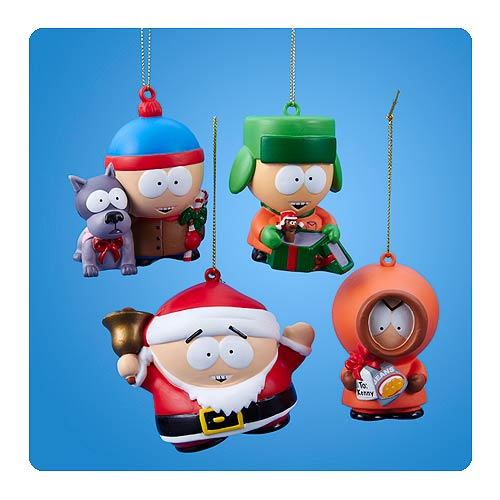 South Park Christmas Gifts Blow Mold Ornament Set