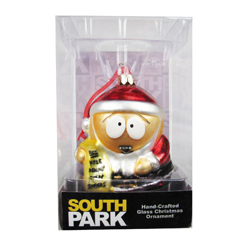 South Park Santa Cartman 5-Inch Glass Ornament
