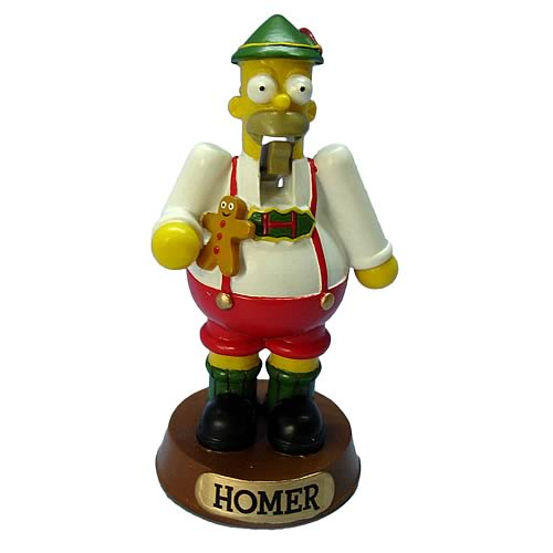 Simpsons Homer Simpson 4-Inch Resin Nutcracker