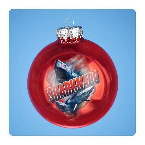 Sharknado 3-Inch Red Glass Ball Ornament