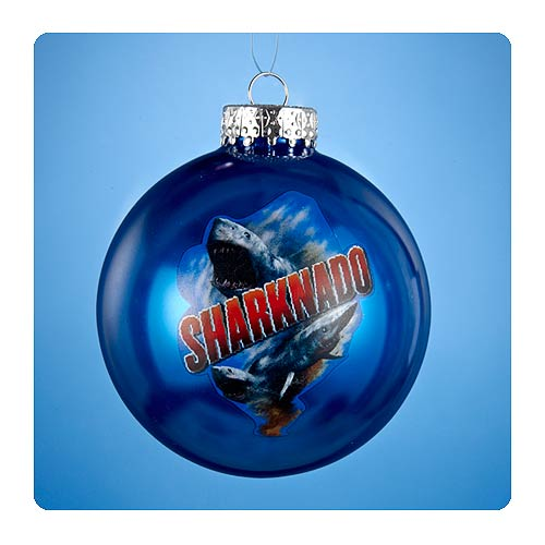 Sharknado 3-Inch Blue Glass Ball Ornament