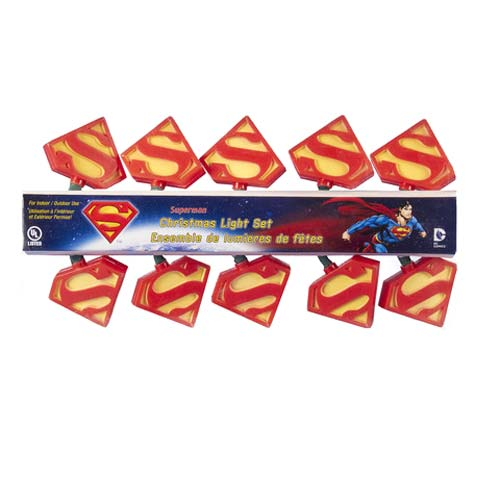 Superman S Logo Christmas Lights
