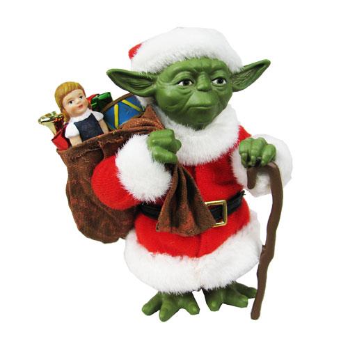 Star Wars Santa Yoda Tablepiece Statue
