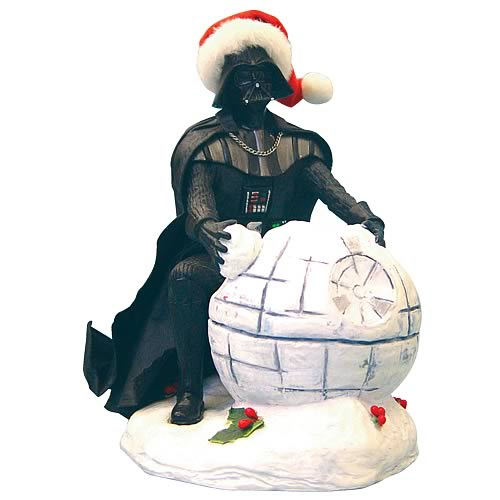 Star Wars Darth Vader Death Star Fabric Mache 7-Inch Statue