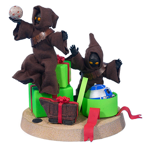 Star Wars Jawas Christmas Fabric Mache Statue
