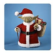 Star Wars 10-Inch Yoda in Santa Outfit Tablepiece