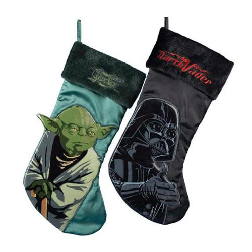 Star Wars Yoda and Darth Vader Christmas Stocking Set