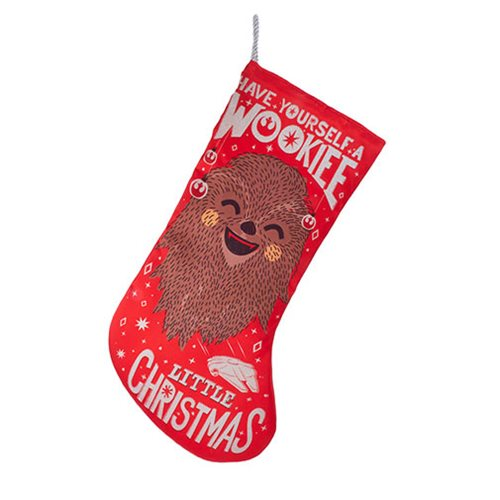 Star Wars Wookiee 19-Inch Printed Satin Stocking