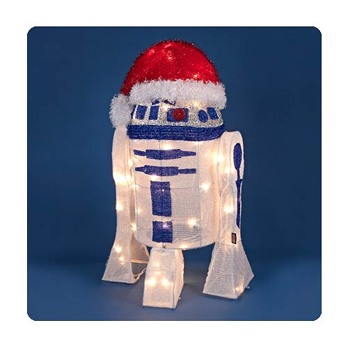 Star Wars R2-D2 Light-Up 28-Inch Tinsel Display