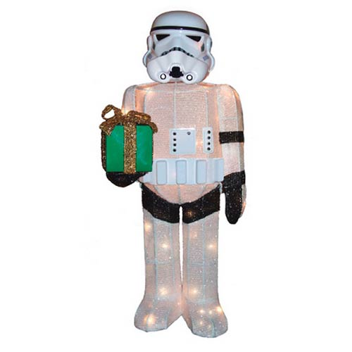 Star Wars Stormtrooper Lighted 28-Inch Tinsel Display - Free Shipping