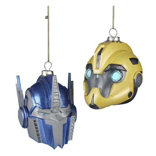 Transformers Bumblebee and Optimus Prime X-Mas Ornament Set