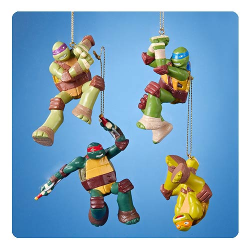 Teenage Mutant Ninja Turtles Nick TV Blow Mold Ornament Set