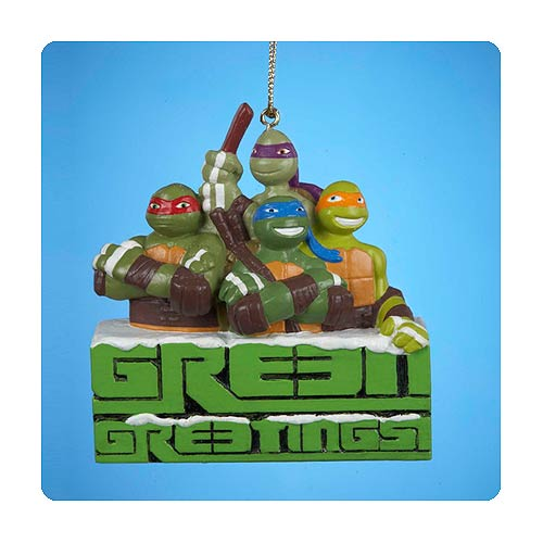 Teenage Mutant Ninja Turtles Green Greetings X-Mas Ornament