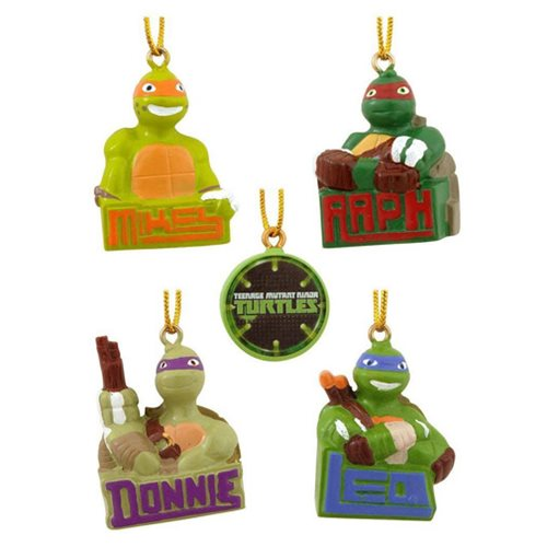 Teenage Mutant Ninja Turtles Mini Christmas Ornament 5-Pack