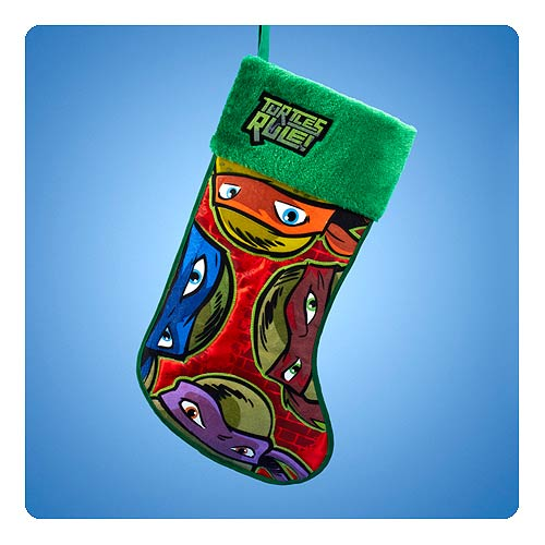 TMNT Nickelodeon TV Applique Christmas Stocking