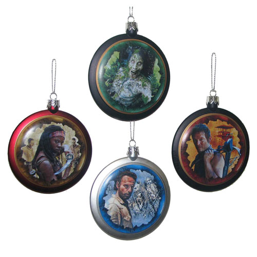 The Walking Dead Blow Mold Ball Ornament Set