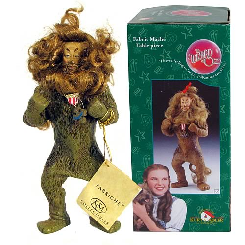 Wizard of Oz Cowardly Lion Fabric Mache Statue
