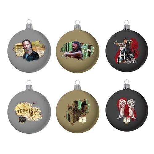 The Walking Dead Glass Ball Ornament Set