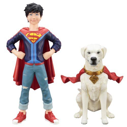 DC Comics Super Sons Jonathan Kent and Krypto ArtFX+ Statues