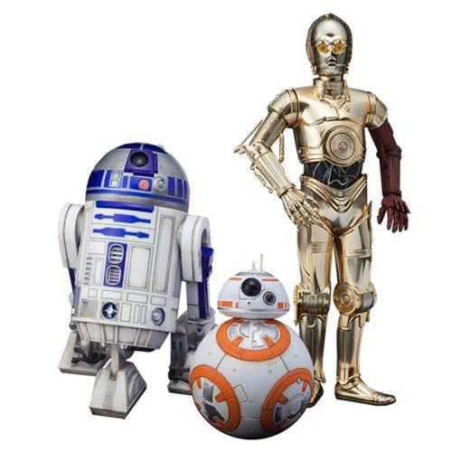 Star Wars: TFA C-3PO R2-D2 and BB-8 ArtFX+ 1:10 Statue Set
