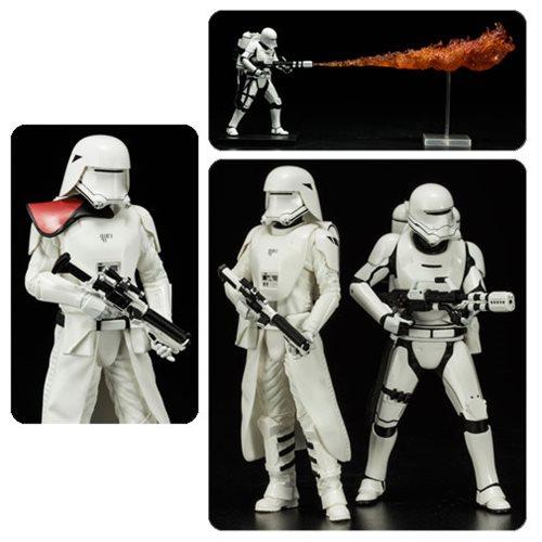 Star Wars: TFA First Order Snowtrooper Flametrooper Statues