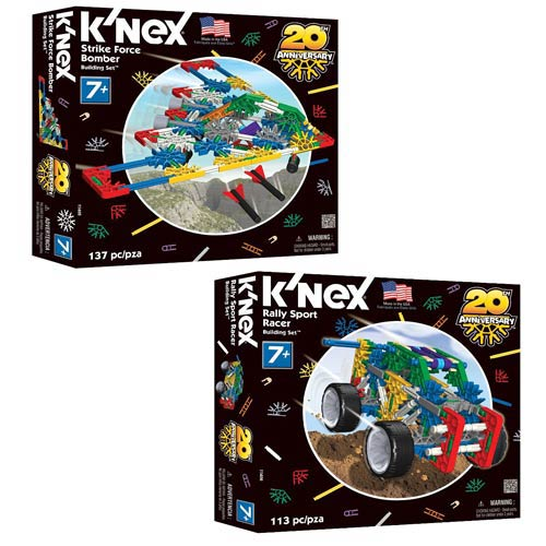 K'NEX Strike Force and Rally Sport Building Set 2-Pack
