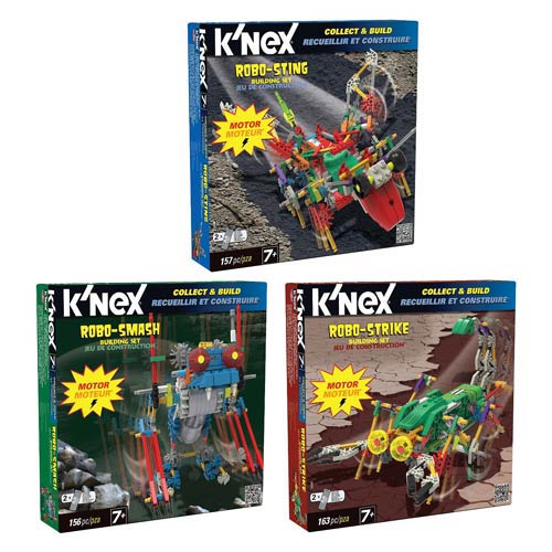 K'NEX Robo-Creatures Motorized Building Set 3-Pack