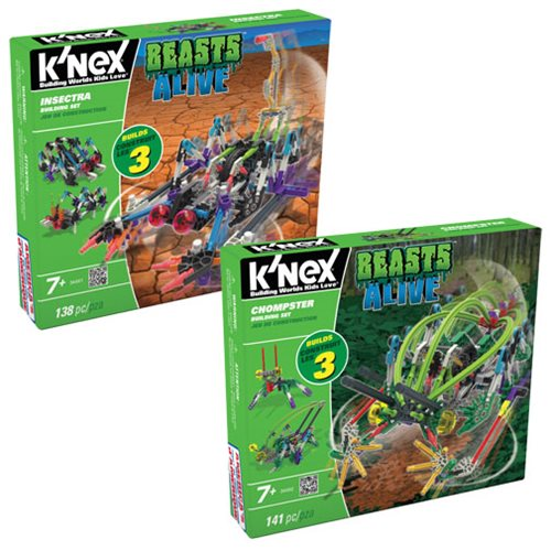Beasts Alive! Insectra and Chompster Building Set 2-Pack