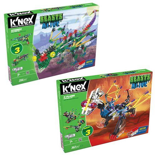 K'NEX Beasts Alive! Stompz and X-Flame Building