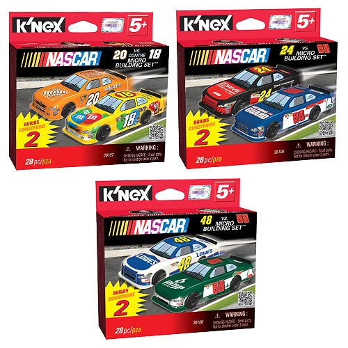 K'NEX NASCAR Race Car Micro-Scale Building Set Case