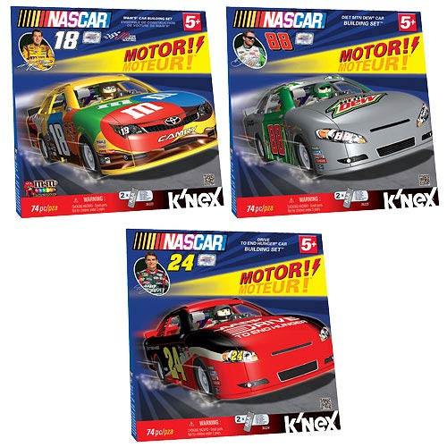 K'NEX NASCAR Motorized Car Building Set Set