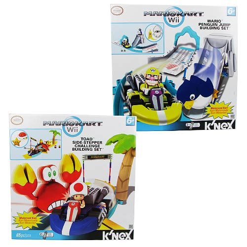 K'NEX Nintendo Mario Kart Toad and Wario Playset Set