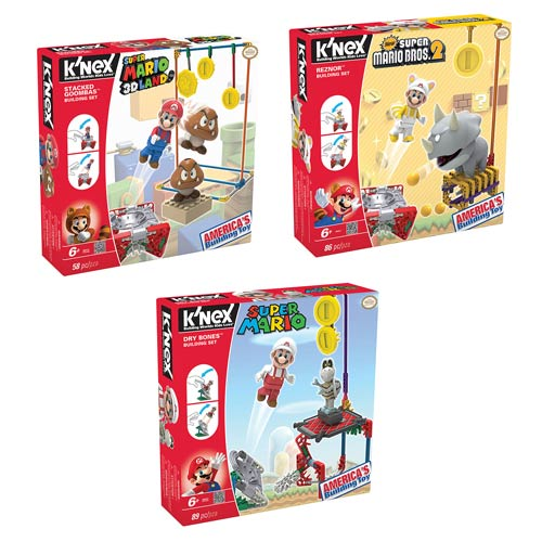 Nintendo Super Mario Bros. Enemy Figure Building Set Case