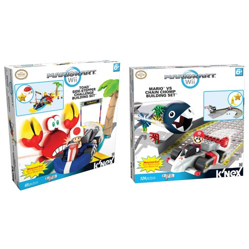 K'NEX Nintendo Mario Kart Toad and Mario Playset Case
