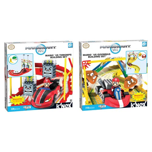 K'NEX Mario Kart Mario vs. Thwomps and Goombas Playset Set
