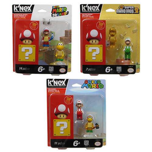 K'NEX Nintendo Super Mario Bros. Figure 3-Pack Set