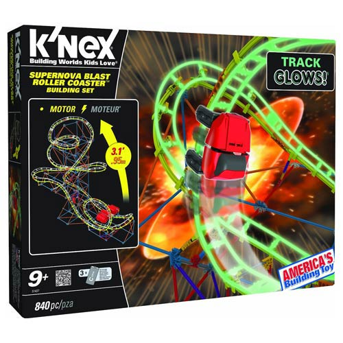 K'NEX Supernova Blast Roller Coaster Building Set