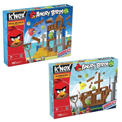 K'NEX Angry Birds All Hams and Grillin Playset Set