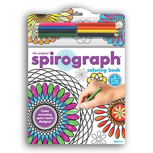 Spirograph Coloring Book & Pencils