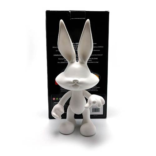 looney tunes bugs bunny white diy monochrome vinyl figure action figures toys bobble heads. Black Bedroom Furniture Sets. Home Design Ideas
