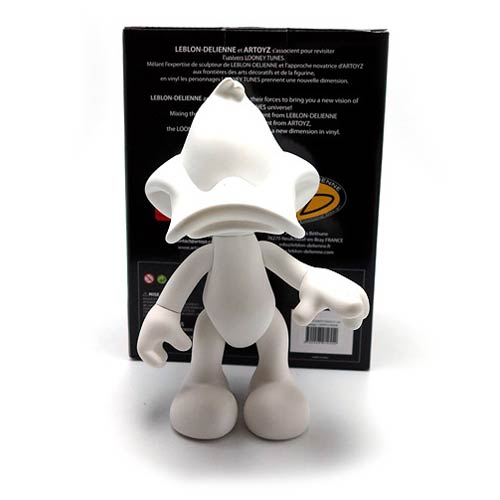 Looney Tunes Daffy Duck White DIY Monochrome Vinyl Figure